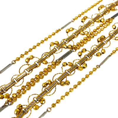 金 - 3連 ネックレス