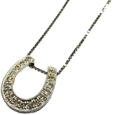 プラチナ - プラチナ ダイヤ付きネックレス