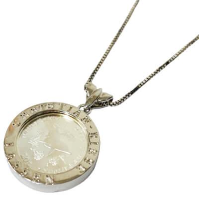 銀 - シルバーコイン ネックレス