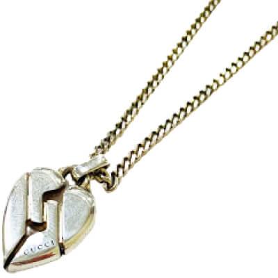 銀 - グッチ ノットハート ネックレス