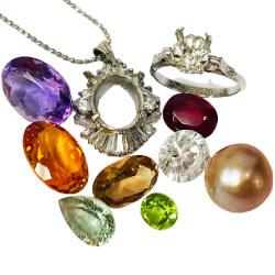 銀 - 宝石が取れた指輪