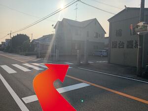 金・ダイヤ・ブランド品・時計を売るなら - 天竜浜名湖線「西掛川」駅からの道順3