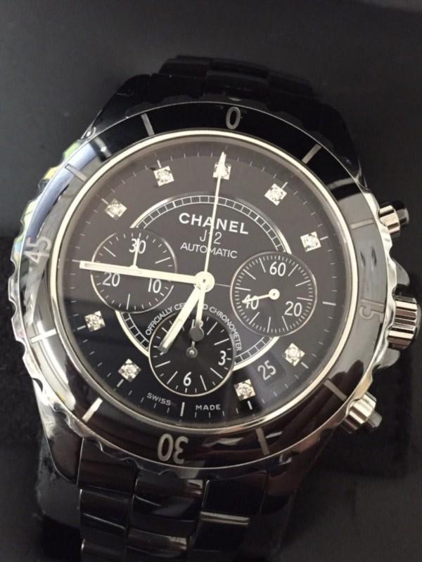 シャネル,ダイヤ,j12,オートマ,時計,売る,青葉,高価,買取,クロノグラフ,セラミック,黒